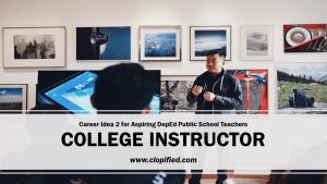 Career for Aspiring Public School Teachers - College Instructor