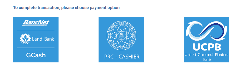 PRC LET 2019: Application and Online Registration Guide - Payment Options