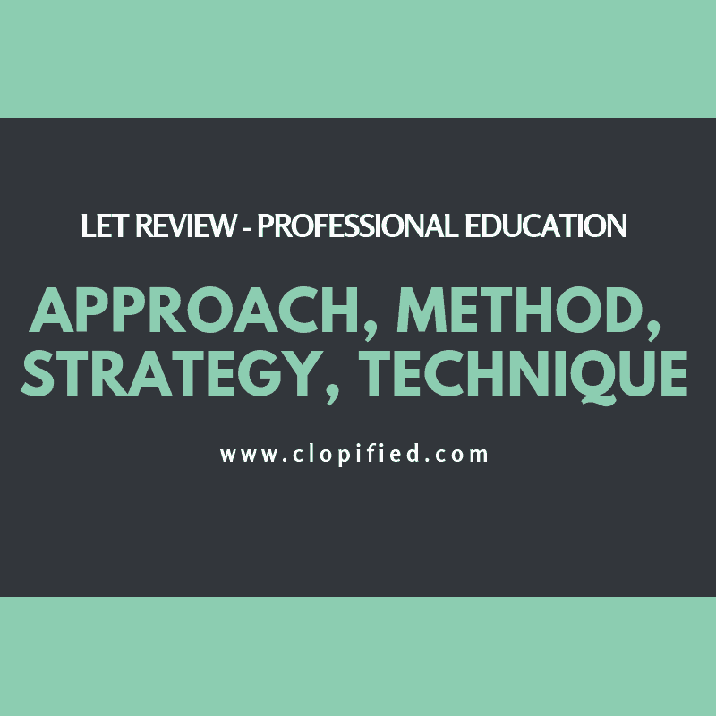 LET Review Approach Method Strategy Technique