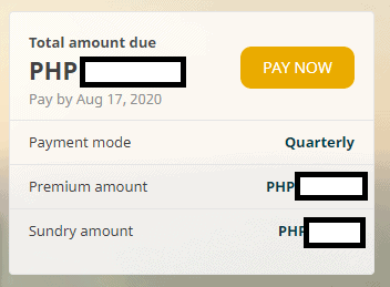pay Sunlife premium Pay now