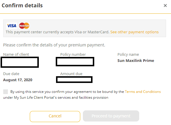 pay Sunlife premium review