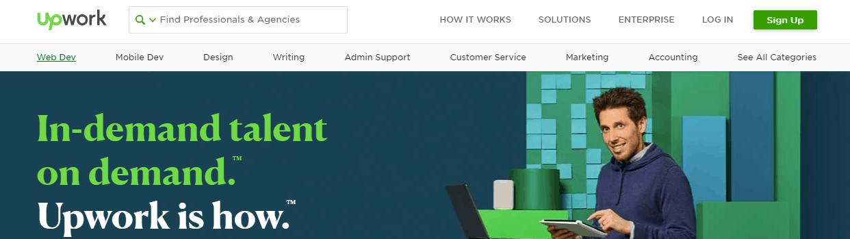 freelance website - upwork