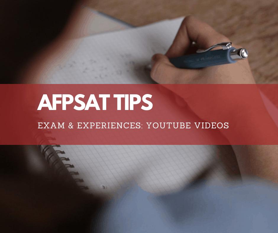 AFPSAT Tips