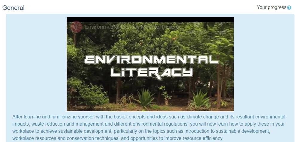 Environmental Literacy free online course