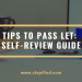 tips to pass LET self-review guide