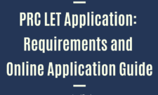 PRC LET APPLICATION Requirements and Online application guide